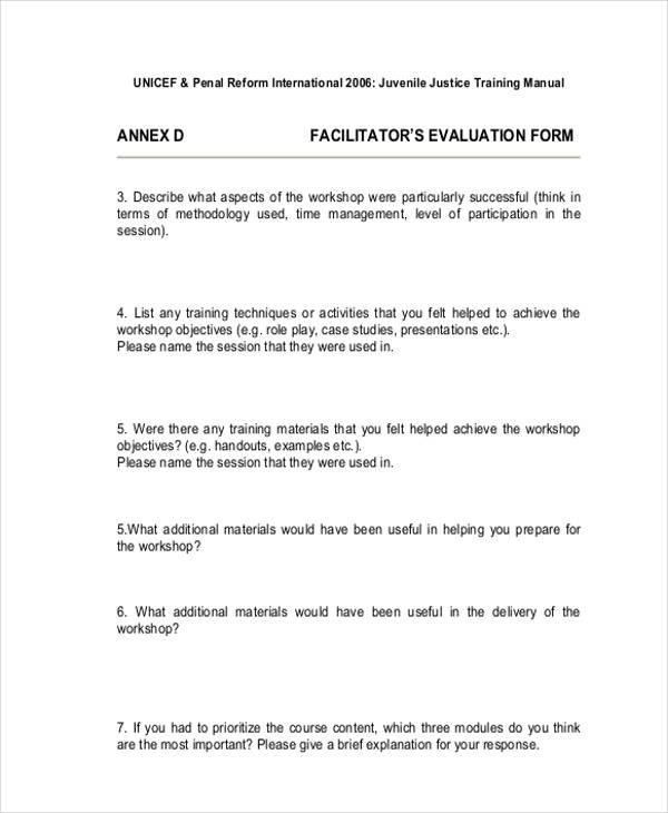 post workshop facilitator