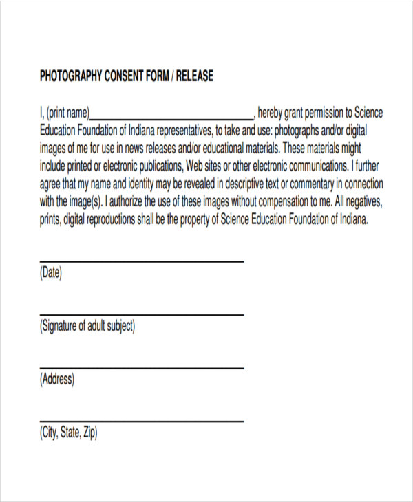 print consent and form