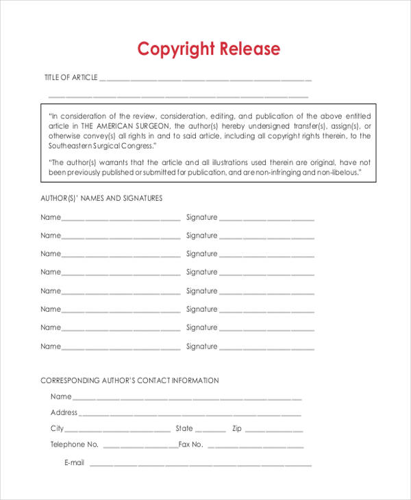 print copy rights release