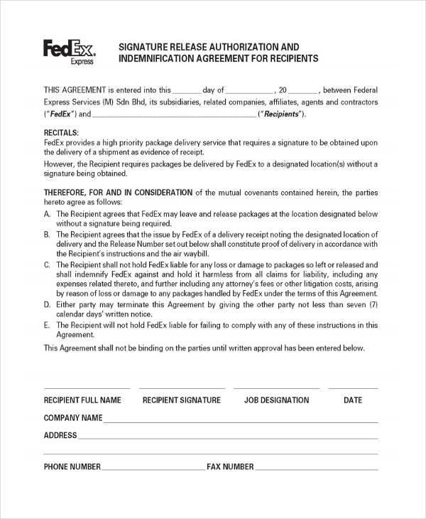 print fedex signature required