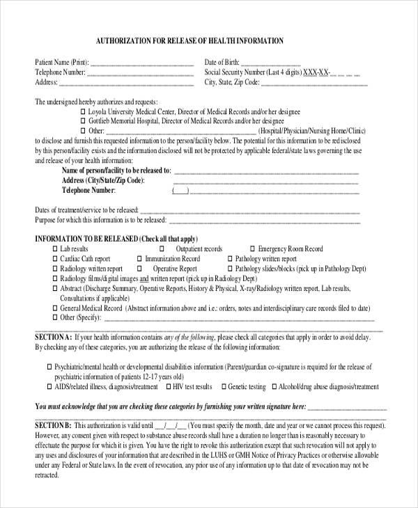 print medical authorization