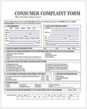 printable consumer complaint form