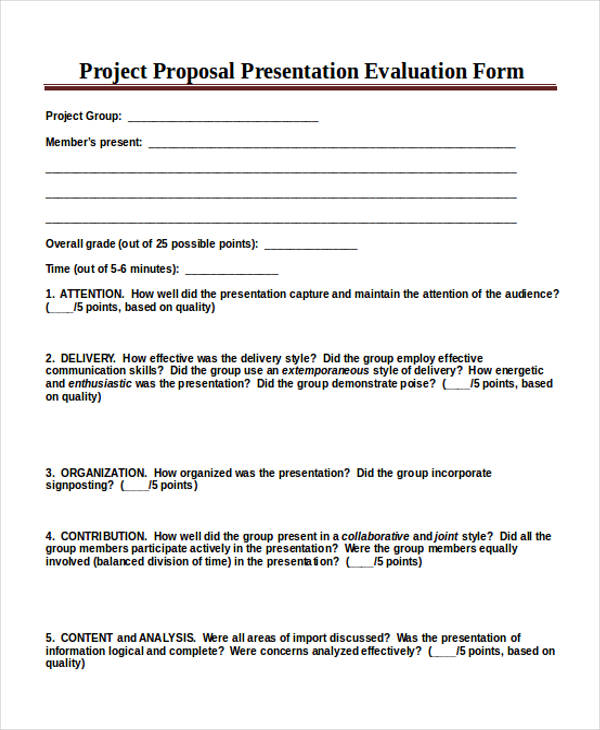Project Evaluation Form Construction Project Manager Evaluation