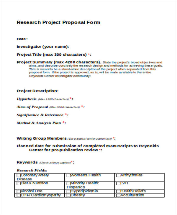 research request proposal form in doc