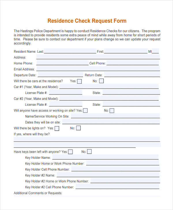 29+ Sample Check Request Form