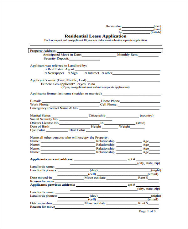 residential rental lease application form3