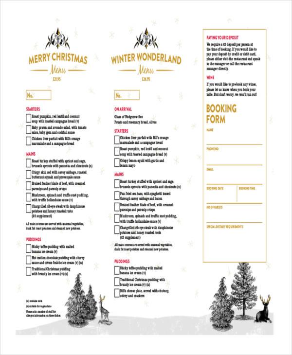 restaurant manager order form