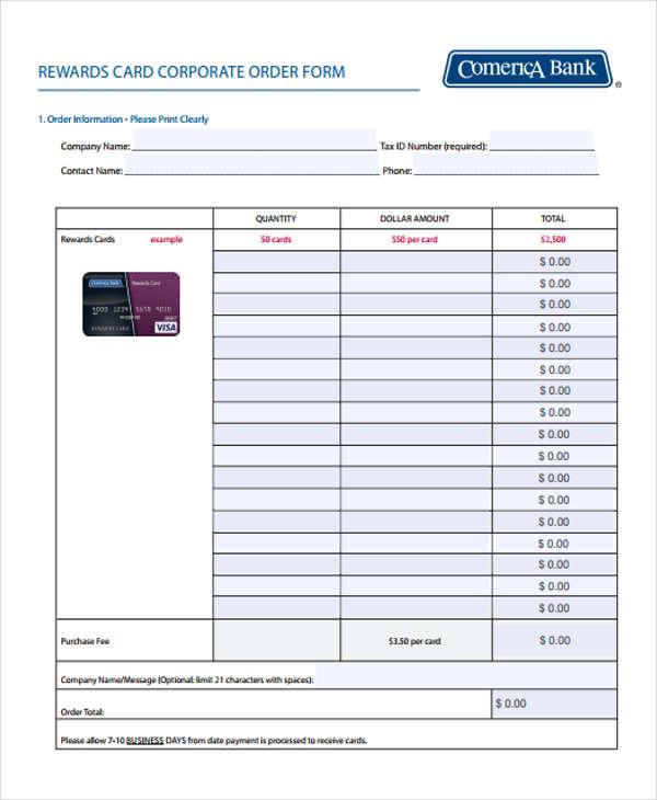 rewards card corporate