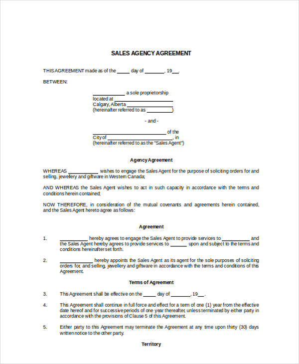 31+ Free Sales Agreement Forms