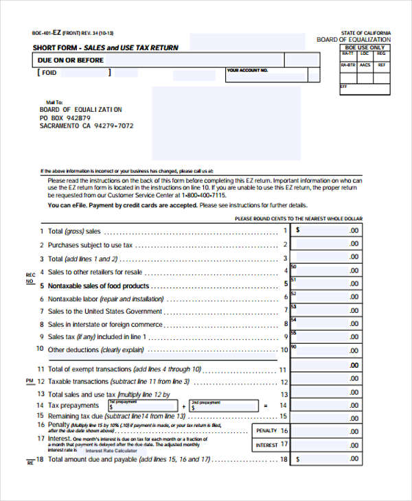 California Sales Tax Sheet – Jerusalem House