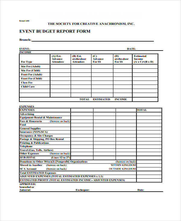 sample event expense report form1