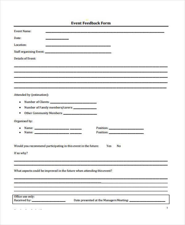 Event Evaluation Samples