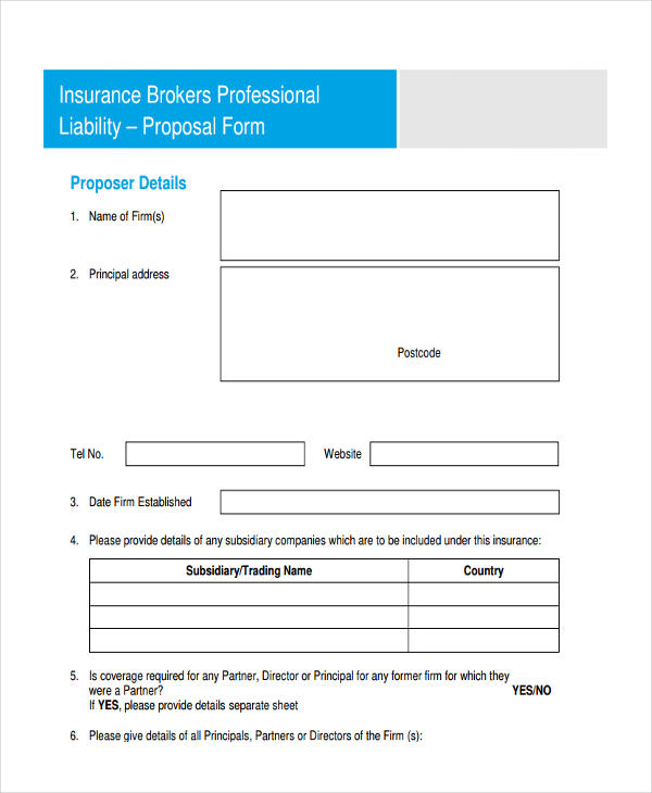 sample insurance brokers proposal1