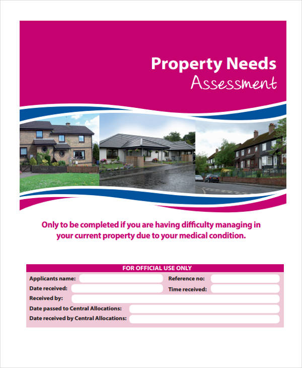 sample property needs assessment form