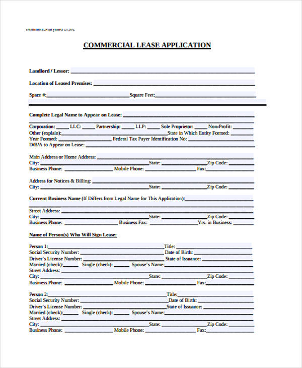 9+ Sample Real Estate Application Form - Free Sample, Example ...