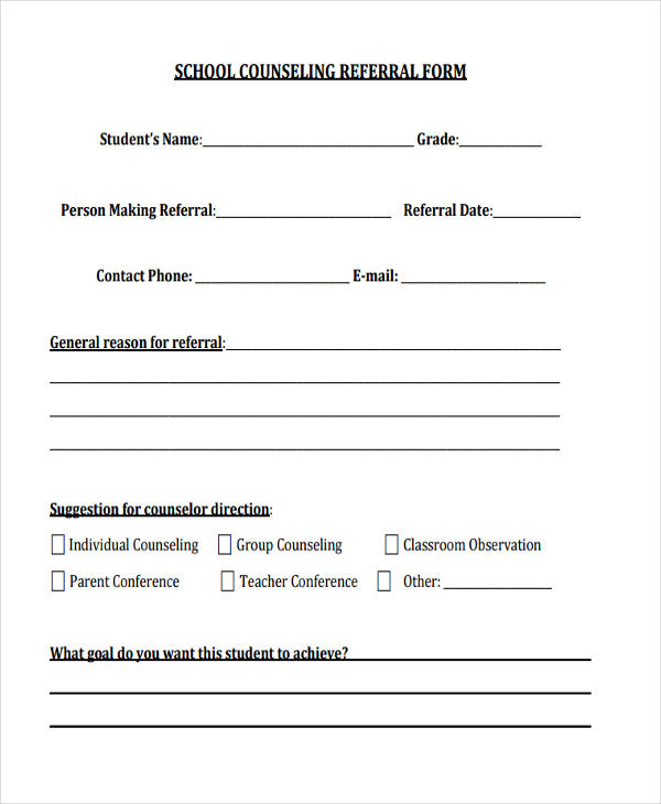 Counseling Forms In Pdf