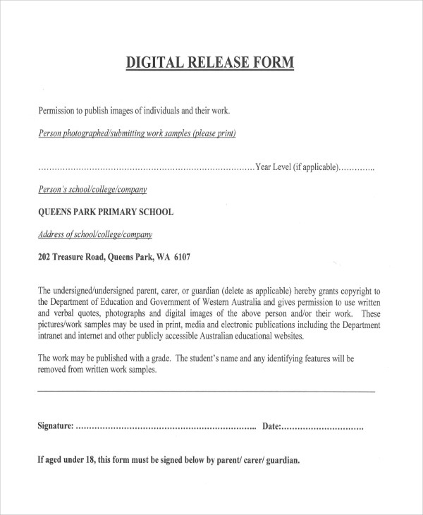 school digital release form1