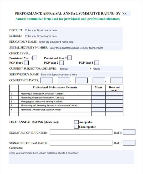 school nurse appraisal