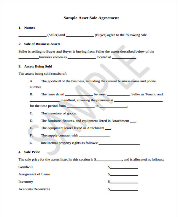 small business sale form