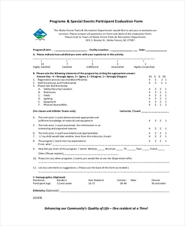special event participant evaluation form3