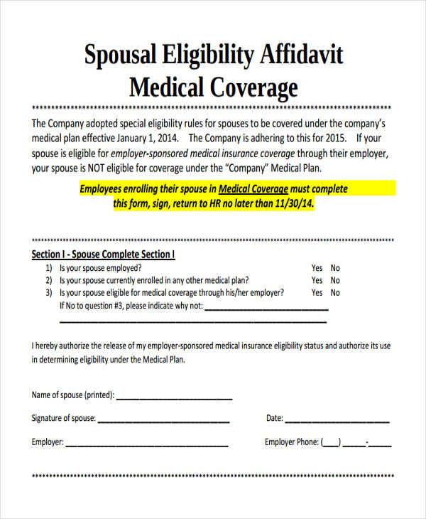 spousal eligibility