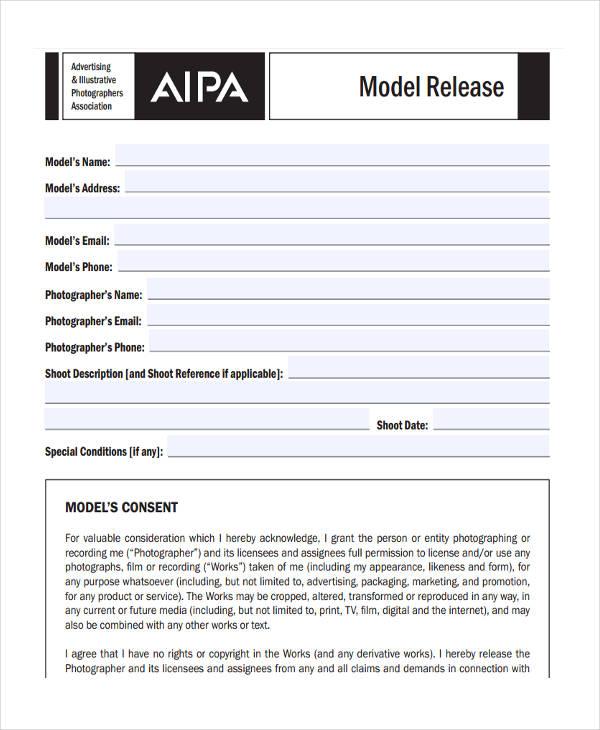 standard model release form2