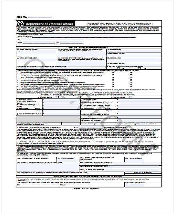 standard purchase sales agreement form1