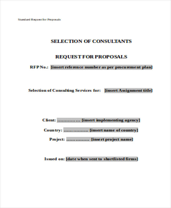 standard request proposal form in doc