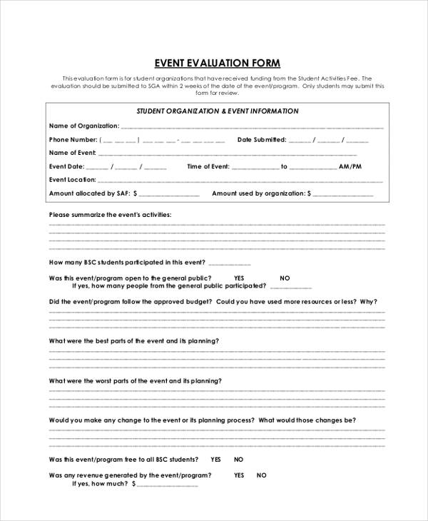 student activities event evaluation form1