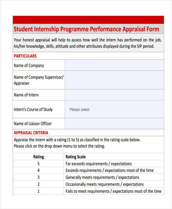 student internship programme