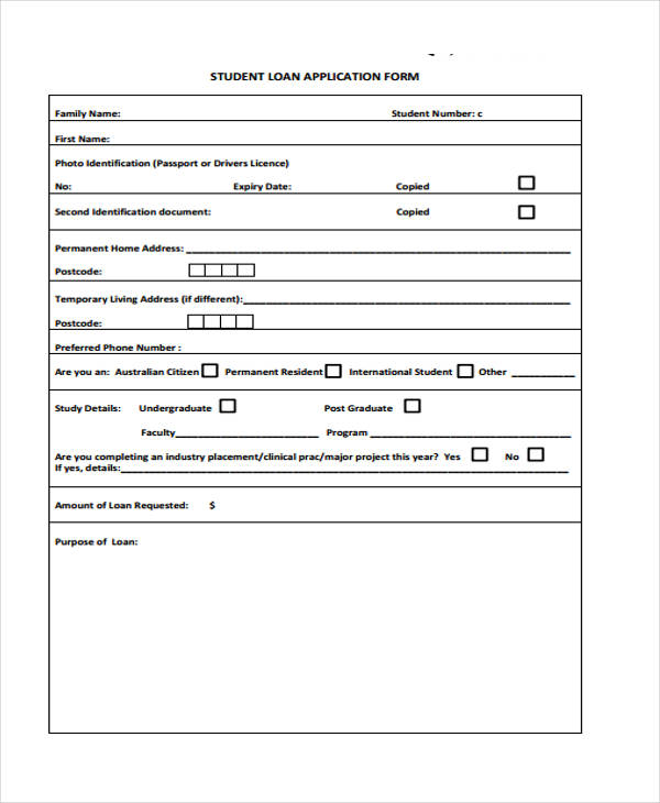 41 Student Application Form Templates – Student Application Form Template