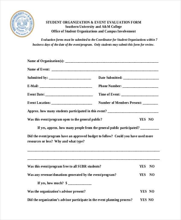 student organisation event evaluation form1