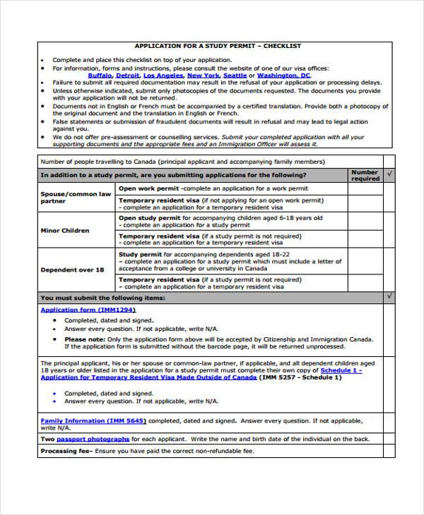 student study permit application form