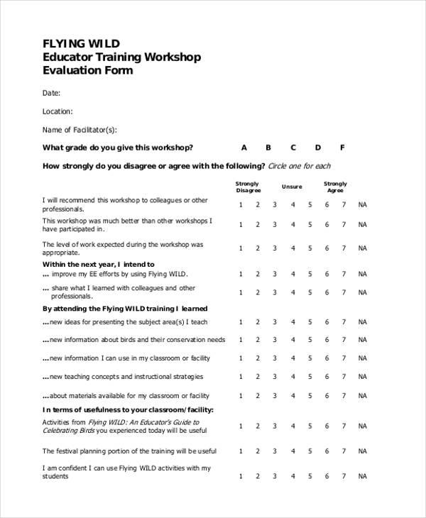 teacher training workshop evaluation form1
