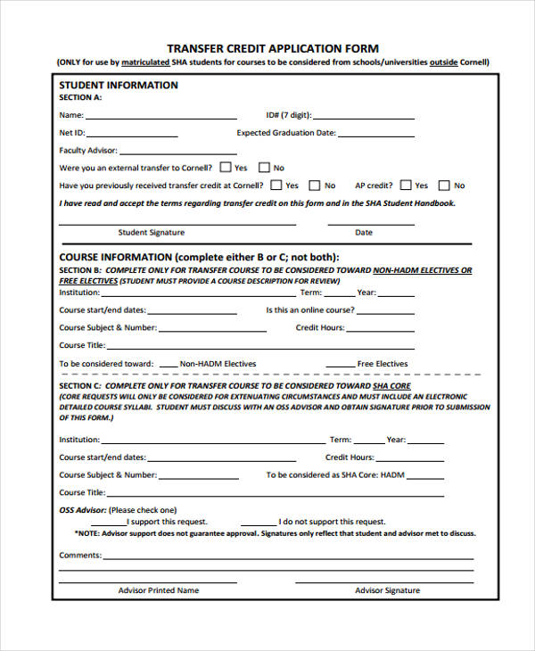 27 sample credit application forms