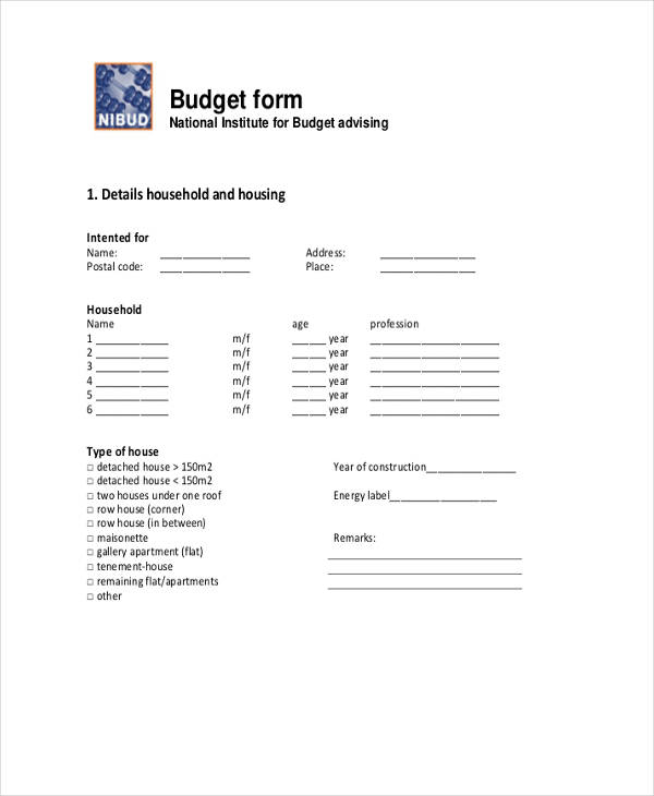 travel allowance budget form