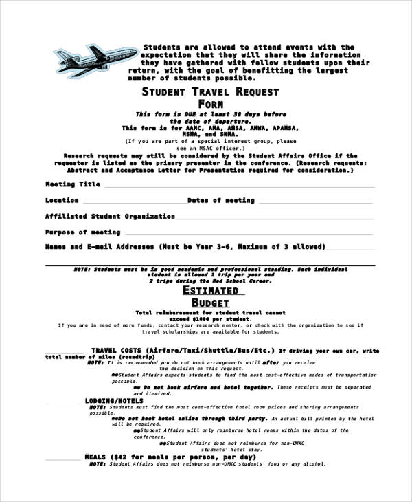 7+ Travel Budget Form Sample - Free Sample, Example Format Download