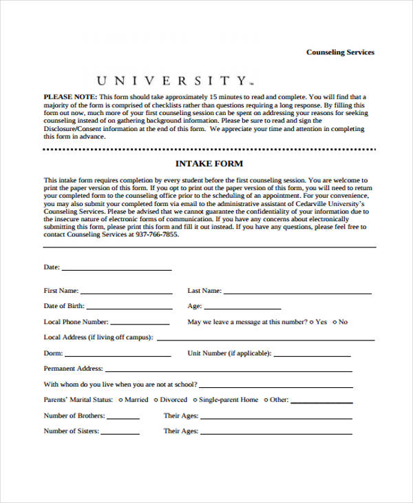 university counseling intake form1