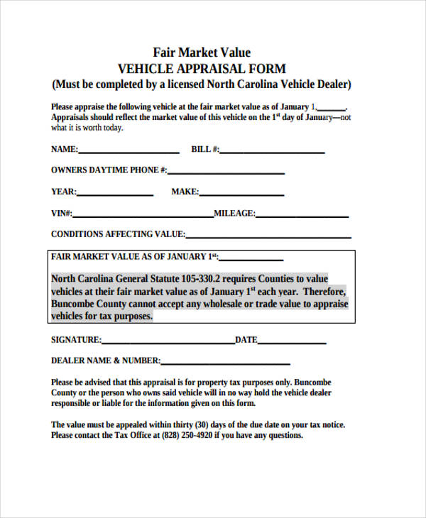 11 Blank Appraisal Form Sample Free Sample Example Format Download – Appraisal Forms Template