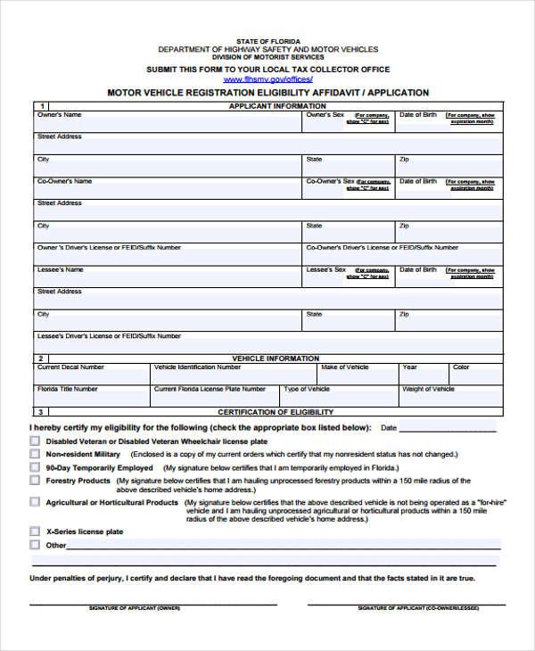 vehicle registration eligibility