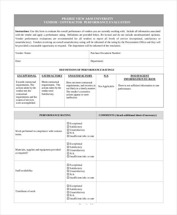vendor performance survey1