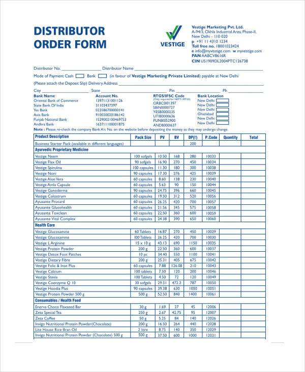 Product Order Form Permission And Release Form Product Order Form