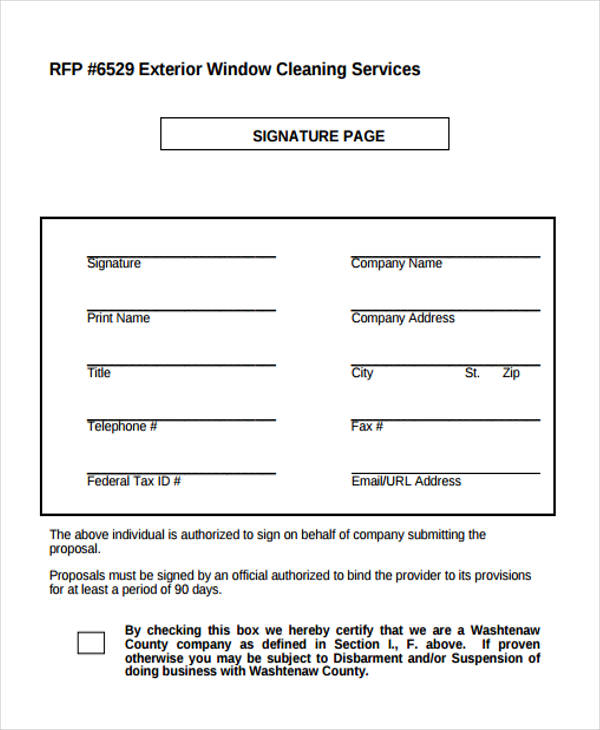 Cleaning Proposal Form Sample 5 Free Documents In Word Pdf