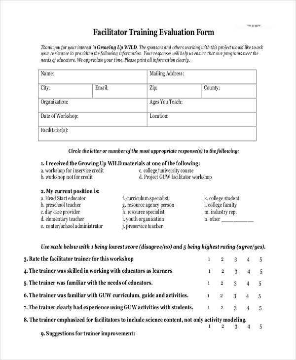 Teacher Workshop Evaluation Form  GetpaidtotakesurveyonlineInfo