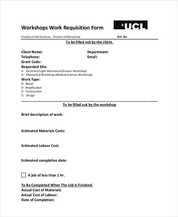 workshops job requisition form1
