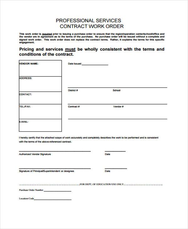 32+ Sample Service Order Forms