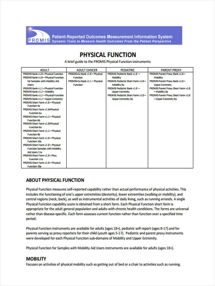adult physical function