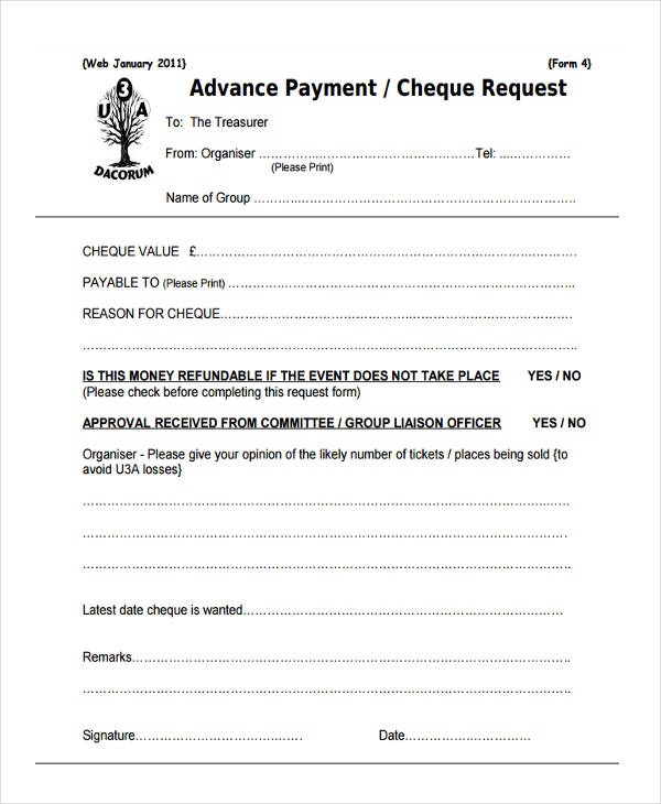 Payment Request Form Sample  Free Sample Example Format Download