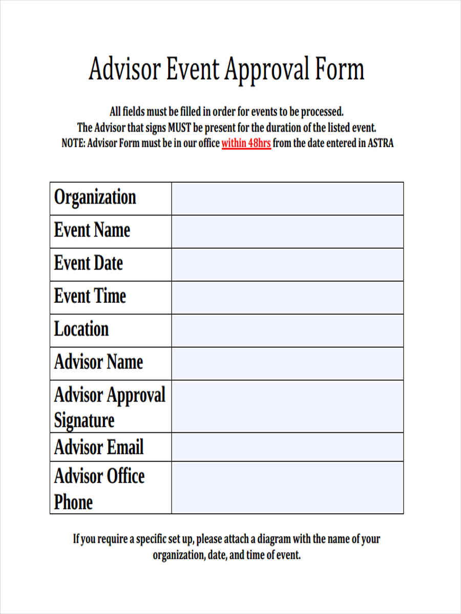 10  event approval form