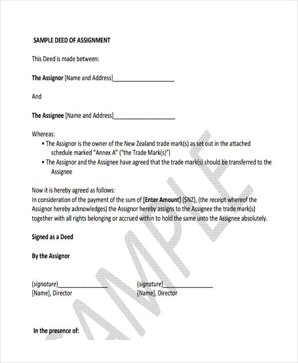 assignment deed